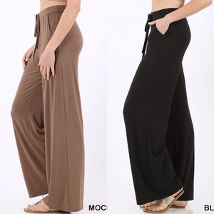 MUST HAVE Softest Casual Pants - MOCHA/BLACK